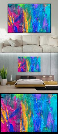 五彩斑斓抽象画