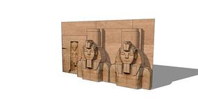 古埃及雕塑板