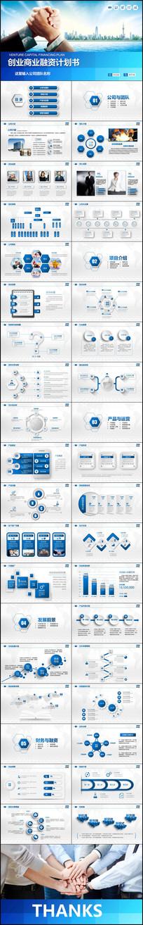 商业策划创业融资营销商务PPT模板