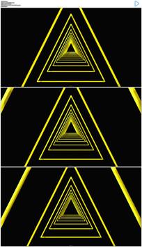 三角形隧道穿梭动态视频素材