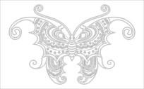 蝙蝠图雕刻图案