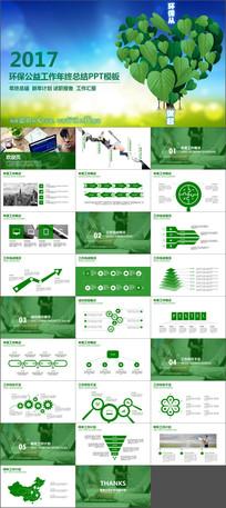 爱护环境绿色节能低碳环保PPT模板