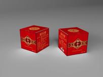 红色中药包装设计