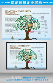 创意大树企业宣传展板设计