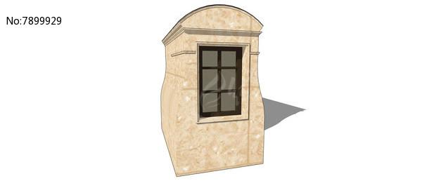 欧式简洁窗户模型图片