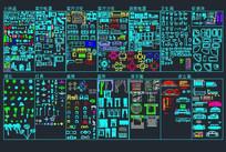 综合家具CAD图库
