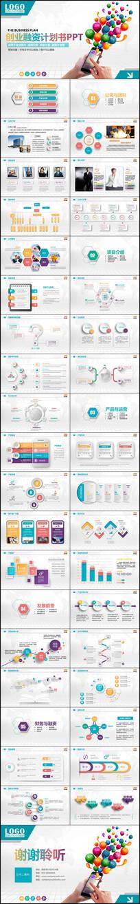 电商互联网商业创业计划书营销策划PPT书