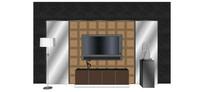欧式电视柜及电视背景模型