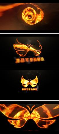 ae震撼火焰logo标志展示片头模板