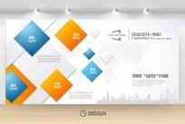 创意科技几何立体企业文化墙展板