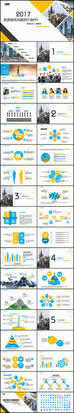 完整框架欧美简约商业计划融资计划书PPT