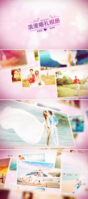 3d婚礼照片悬浮唯美婚礼相册模板