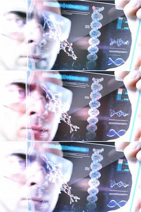 科学家观察DNA双螺旋结构影像视频