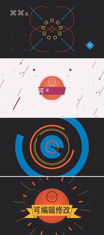 线条图形动画企业标志展示ae模板