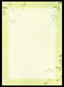 梦幻绿意信纸背景
