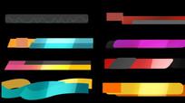 多款扁平字幕条带alpha通道视频