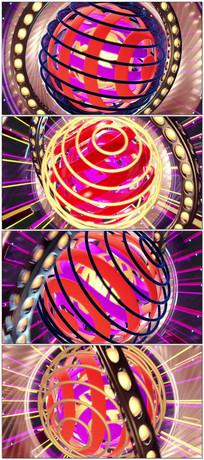极品三维球形灯光节奏大屏