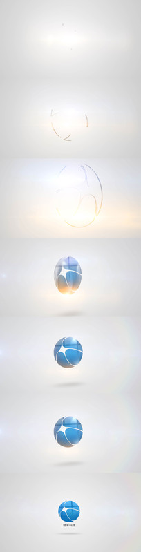 描边视觉冲击logo演绎片头