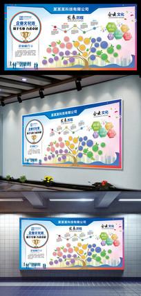 时尚大气炫丽企业文化墙设计