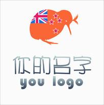澳洲进出口贸易企业cdr原创几维鸟logo设计稿