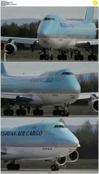 机场飞机滑行实拍视频素材
