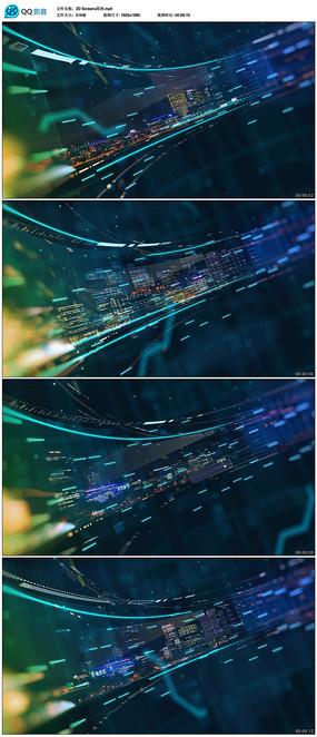 3d立体led大屏背景视频
