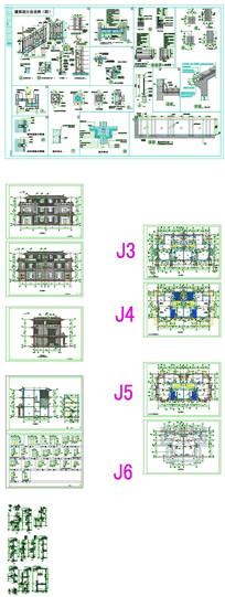 别墅建筑CAD图纸