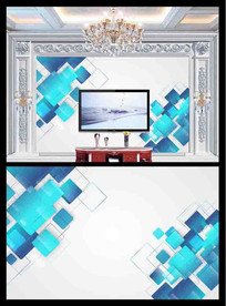 简约时尚电视背景墙