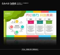 创意企业文化墙模版下载