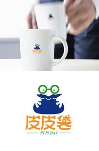 可爱卡通包装袋logo