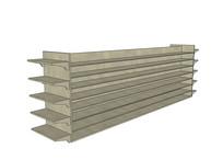 木质售货展示架子模型