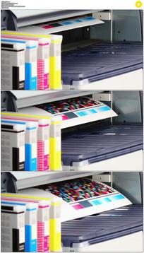 打印机实拍视频素材