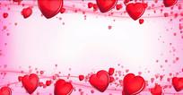 红色爱心相框婚庆婚礼视频素材