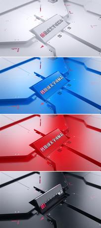 企业三维标志logo演绎ae模板