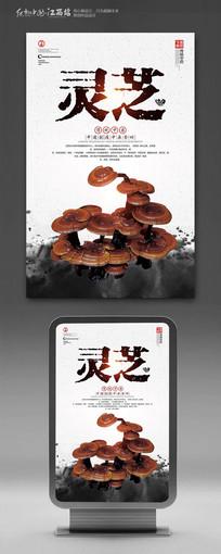 中国风中药灵芝海报设计