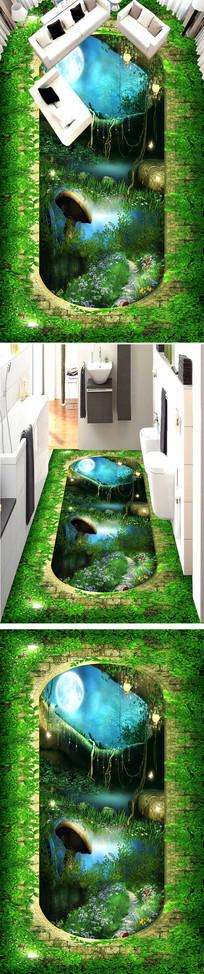 梦幻森林立体地画