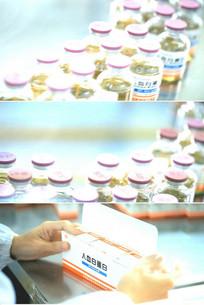 制药厂生产线自动包装盒子视频