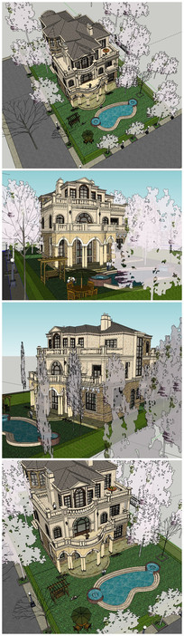 3层欧式别墅