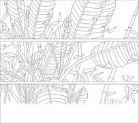 芭蕉树雕刻图案