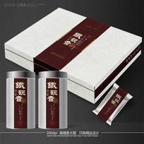 铁观音茶叶包装设计展开图