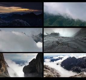 高山云雾延时风景视频