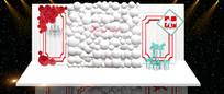 红白色欧式婚礼效果图合影区