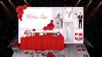 红白色欧式婚礼效果图展示区