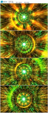 震撼粒子隧道穿梭视频