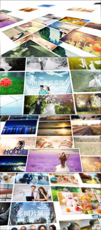 100多张照片组合排列展示ae模板