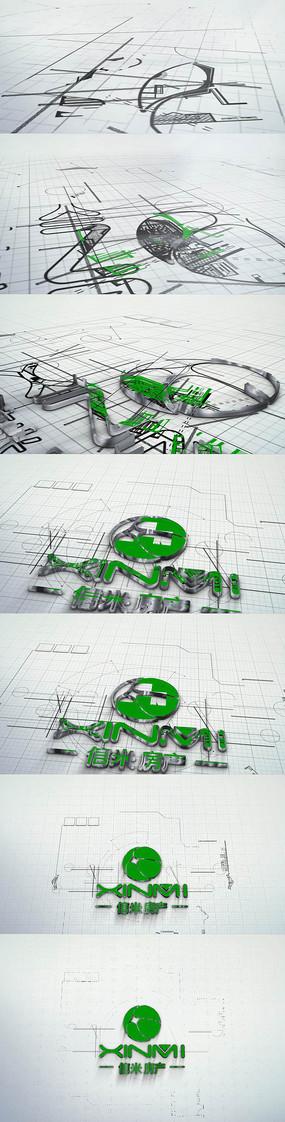 房产租房企业片头模版