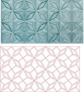 幾何圖案雕刻圖案