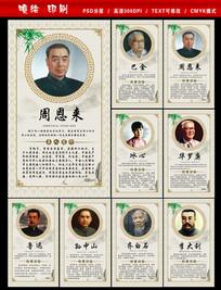 中国近代名人简介展板