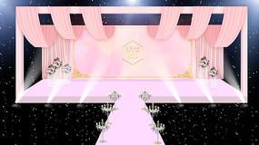 粉色婚礼舞台