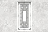 回形中式门扇
